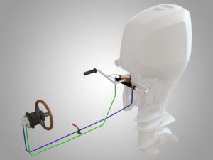 Tiller for Outboard Motor Cylinders