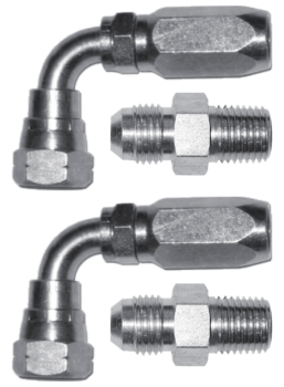 Set of straight pump fittings