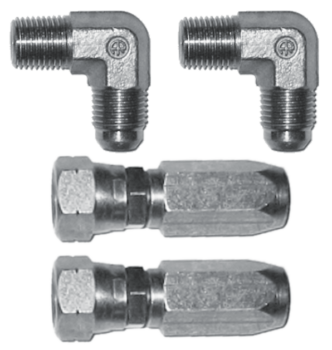 Set of elbow fittings G1/4 Ø8