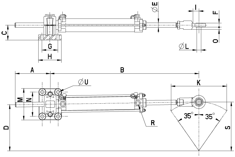 Vérin VHM 32 DT / VHM 35 DTP