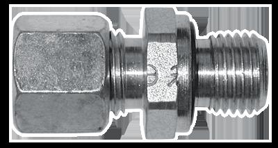 Jeu de 2 raccords droits tuyau souple pompes G1//8 Ø6  LECOMBLE SCHMITT 2200807